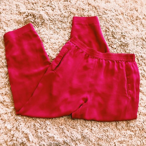 Vintage Dana Buchman Bright Pink Silk Pants